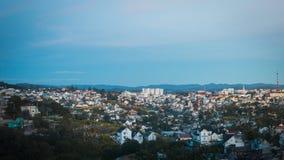 Cidade na manhã Foto de Stock Royalty Free