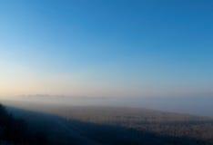Cidade na névoa Foto de Stock Royalty Free
