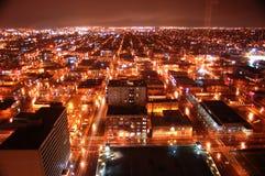 Cidade na noite 1 Foto de Stock Royalty Free