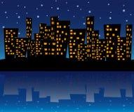 Cidade na noite ilustração stock