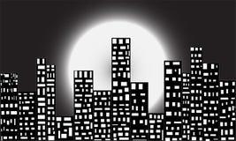 Cidade na noite Ilustração do Vetor