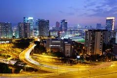 Cidade na noite Imagens de Stock