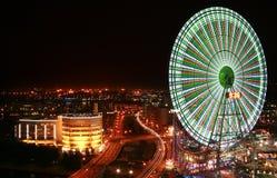 Cidade na noite Fotografia de Stock