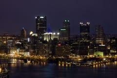 Cidade na noite Foto de Stock Royalty Free