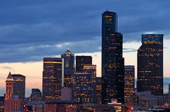 Cidade na noite Imagem de Stock