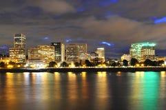 Cidade na noite Imagens de Stock Royalty Free