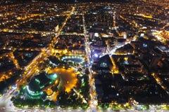 Cidade na noite, Arm?nia de Yerevan imagens de stock royalty free