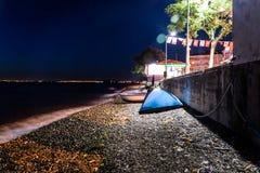 Cidade na noite de verão - Turquia de Cinarcik Imagens de Stock Royalty Free