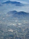 Cidade na poluição atmosférica da manhã imagens de stock royalty free