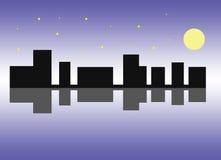 Cidade na noite fotos de stock royalty free