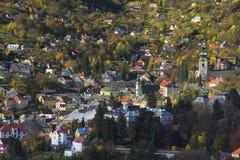 Cidade nas montanhas Fotografia de Stock