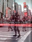 Cidade neo de York imagem de stock royalty free