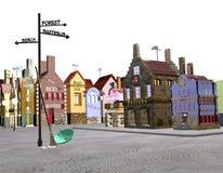 Cidade no branco Imagem de Stock Royalty Free
