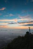 Cidade no céu Foto de Stock Royalty Free