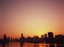 Cidade no eventide Imagens de Stock