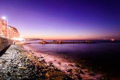 Cidade no inverno - Turquia do verão de Cinarcik Foto de Stock