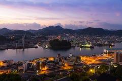 Cidade no nascer do sol, Japão de Onomichi fotos de stock
