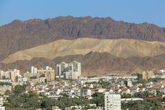 Cidade no pé das montanhas Fotografia de Stock Royalty Free