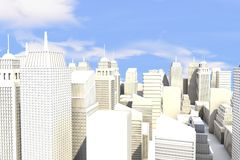 Cidade no Sun Fotografia de Stock Royalty Free