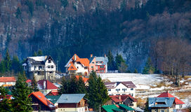 Cidade no tempo de inverno Foto de Stock Royalty Free