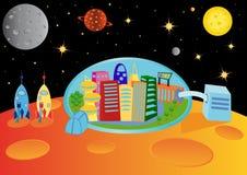 Cidade no universo Fotos de Stock Royalty Free
