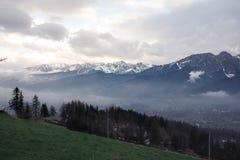 A cidade no vale Imagem de Stock Royalty Free