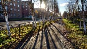 Cidade norte pequena de Rússia fotos de stock royalty free