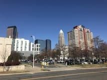 Cidade North Carolina da vista Fotos de Stock