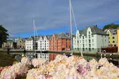 Cidade norueguesa Alesund Imagens de Stock Royalty Free