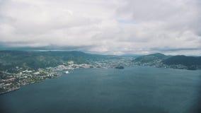 Cidade norueguesa Bergen vídeos de arquivo