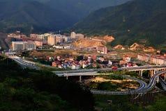 Cidade nova de Zhejiang Jinhua Pan'an imagens de stock