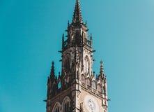Cidade nova Hall German: Neues Rathaus; Bávaro central: Neis Rathaus imagens de stock