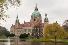 A cidade nova Hall Hannover Fotografia de Stock