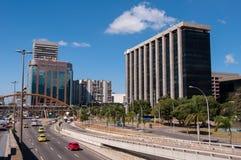 Cidade novaområde i Rio de Janeiro med stadshusbyggnaden Royaltyfri Foto