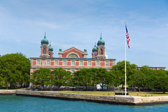 Cidade NY de Ellis Island Immigration Museum Jersey imagem de stock royalty free