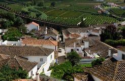 Cidade Obidos, Portugal Foto de Stock Royalty Free