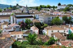Cidade Obidos, Portugal Imagem de Stock Royalty Free