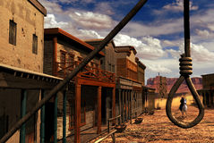 Cidade ocidental selvagem Foto de Stock
