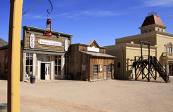 Cidade ocidental selvagem velha imagens de stock royalty free