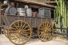 Cidade ocidental, velha velha da fuga, Cody, Wyoming foto de stock