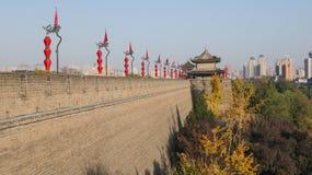 A cidade ocidental Xi ?do, a capital de Qin Dynasty e de Tang Dynasty, a parede da cidade, e a porta da cidade de Yongdingmen imagens de stock royalty free