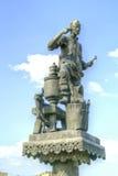 Cidade Oryol Esculturas dos personagens do escritor Nikolai Lesko imagens de stock royalty free
