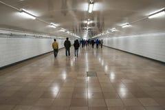 Cidade, a passagem subterrânea Fotografia de Stock Royalty Free