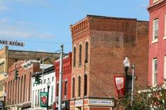 Cidade pequena, arquitetura do século XIX Imagem de Stock Royalty Free