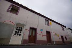Cidade pequena de Miguel do Sao, Açores, Portugal fotografia de stock royalty free