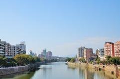A cidade pequena de NanXiong Fotografia de Stock