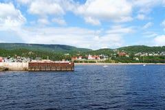 A cidade pequena de Tadoussac, Canadá Imagens de Stock
