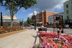 Cidade pequena do centro Fotos de Stock Royalty Free