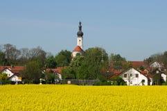 Cidade pequena em Baviera fotos de stock