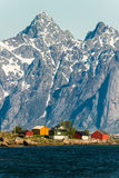 Cidade pequena em Lapland fotos de stock royalty free